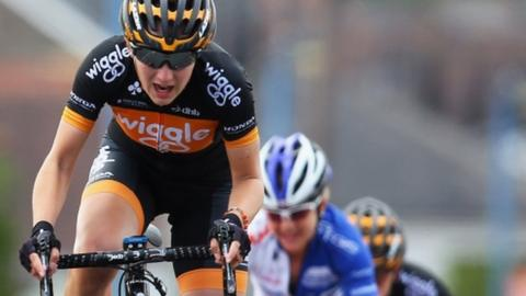 Welsh cyclist Elinor Barker finished eighth in the women's British National road race championships in Monmouthshire