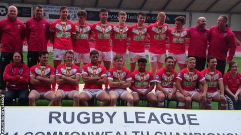 Wales Under 19s pictured with their bronze medals