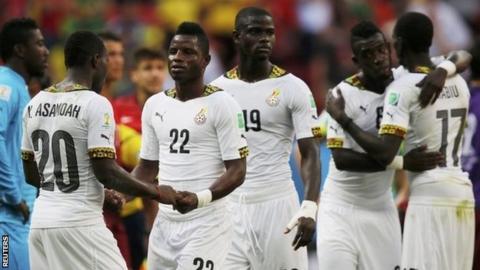 Ghana players