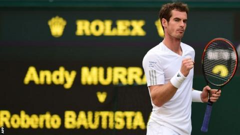 Andy Murray did not drop a set as he cruised into the second week at Wimbledon