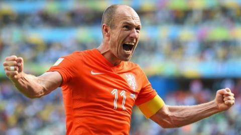 Netherlands striker Arjen Robben