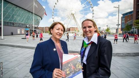 England Netball Chairman Cheryl Danson and International Netball Federation chief executive Claire Briegal