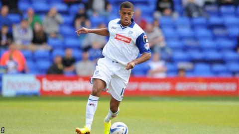 Tranmere Rovers' Andrai Jones in action