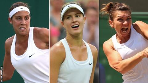 Madison Keys, Eugenie Bouchard, Simona Halep