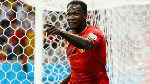 Romelu Lukaku helps his side through to the World Cup quarter-finals