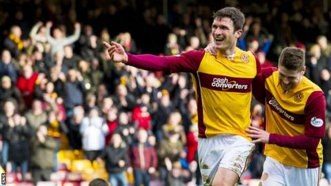 Motherwell striker John Sutton hit 23 goals last season
