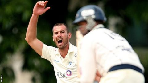 Max Sorensen has impressed with bat and ball at Malahide