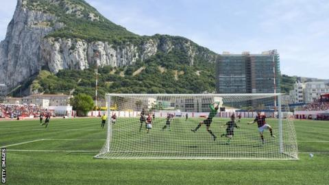 Lincoln Red Imps play in Gibraltar