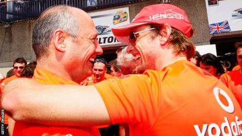 Jenson Button and Ron Dennis