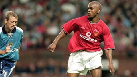 Quinton Fortune in action for Manchester United