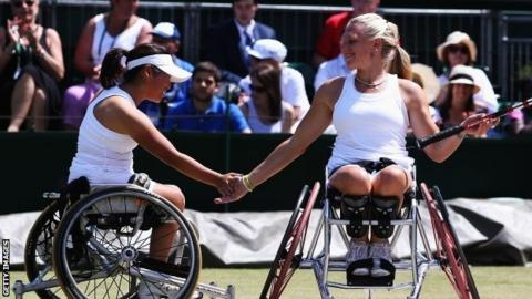 Yui Kamiji and Jordanne Whiley