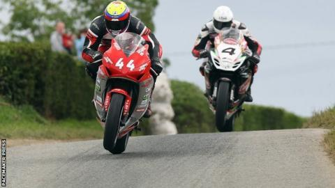 Jamie Hamilton and Dan Kneen in action at Skerries