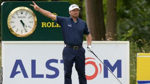 Graeme McDowell was wayward off the tee at the 10th and 13th