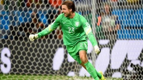 Super sub Tim Krul saves the day for Netherlands