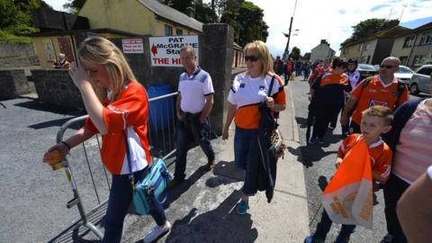 Armagh fans arrived in force to watch their team take on Monaghan