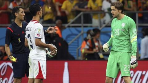 World Cup 2014: Tim Krul defends penalty shootout antics