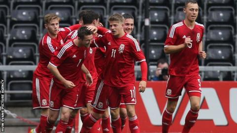 Wales Under-21s in action against England