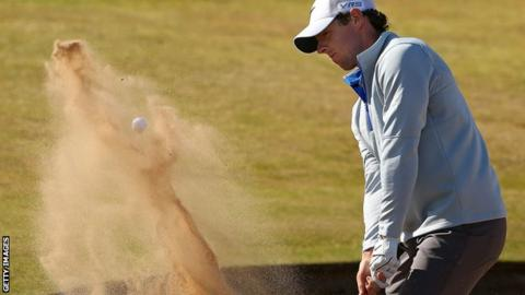 Rory McIlroy struggled in windy conditions on day two of the Scottish Open at Royal Aberdeen