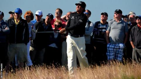 American Phile Mickelson is the defending champion at the Scottish Open