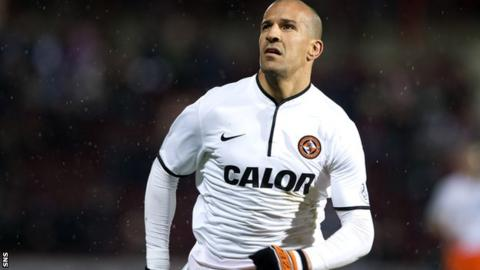 Farid El Alagui scored three goals during a six month loan spell with Dundee Unites last season