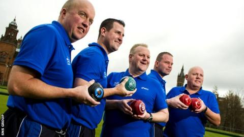 Paul Foster (second from left) has every faith in the Scotland team