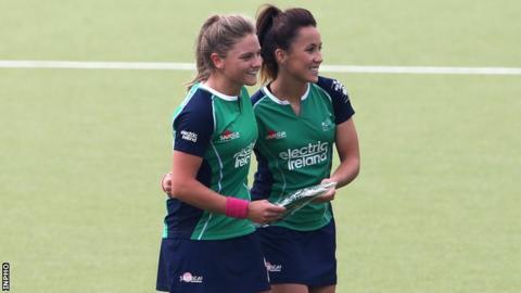 Chloe Watkins earned her 100th Irish cap at the age of 22