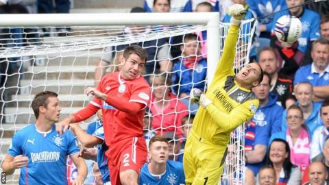 Goalkeeper Scott Gallacher made three first team appearances for Rangers