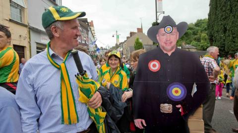 Donegal supporters arrive at St Tiernach's Park for the provincial decider