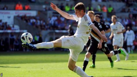 Swansea City full-back Ben Davies is 21 but has already won 10 Wales caps