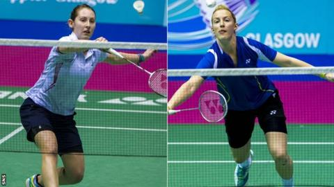 Team Scotland badminton players Kirsty Gilmour, right, and Imogen Bankier