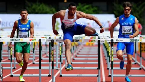 David Omoregie has impressed since dropping decathlon to concentrate on the 110m hurdles