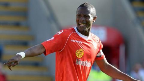 Abdul Osman in action for Crewe