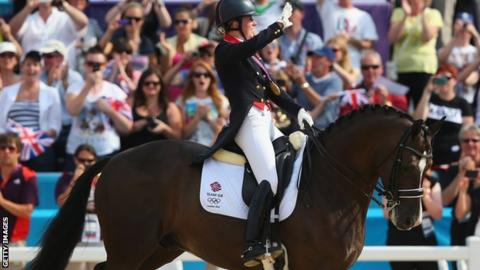 Charlotte Dujardin riding Valegro to Olympic gold at London 2012