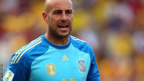 Pepe Reina of Liverpool and Spain