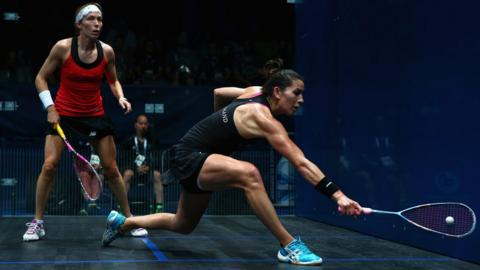 Madeline Perry from Banbridge reached the quarter-finals of the women's squash but then lost to world number four Joelle King from New Zealand