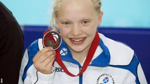 Scottish bronze medallist Erraid Davies