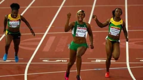 Nigeria's Blessing Okagbare wins women's 100m gold