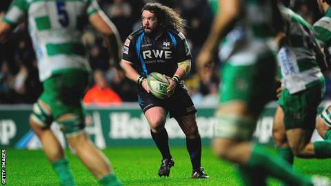 Adam Jones in action for Ospreys