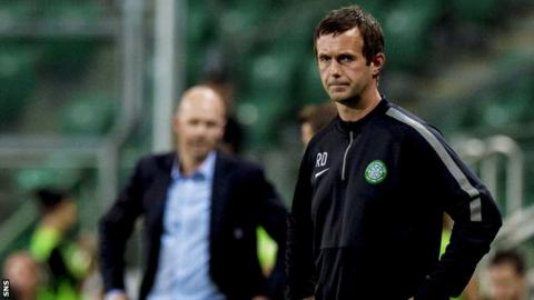 Ronny Deila suffered his first defeat as Celtic boss as they lost 4-1 to Legia Warsaw