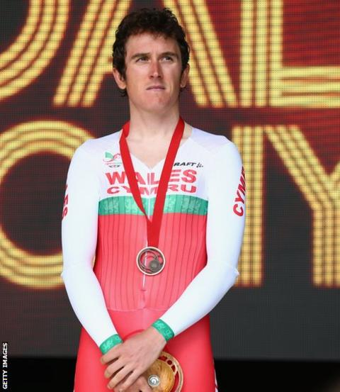 Thomas secured silver after finishing 14 seconds behind winner Alex Dowsett of England with Australia's Rohan Dennis second.