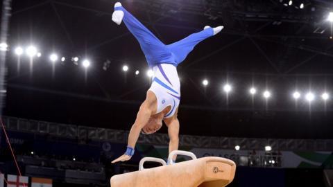Scottish gymnast Daniel Keatings