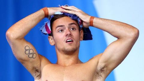 England diver Tom Daley at the 2014 Commonwealth Games in Glasgow