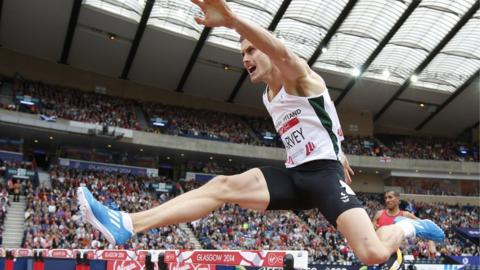 Jason Harvey was fifth in his heat of the 400m hurdles in the Commonwealth Games at Hampden Park in Glasgow
