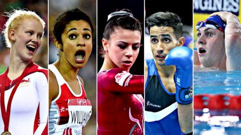 Sophie Thornhill, Jodie Williams Claudia Fragapane, Qais Ashfaq and Ross Murdoch