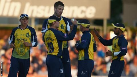 Birmingham Bears celebrate a wicket
