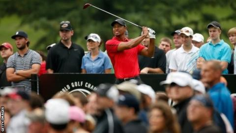 Tiger Woods was forced to withdraw from the WGC-Bridgestone Invitational in Ohio midway through his final round with a back injury.
