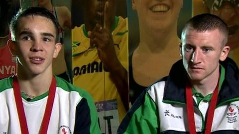 Northern Ireland's Commonwealth Games gold medallists Michael Conlan and Paddy Barnes