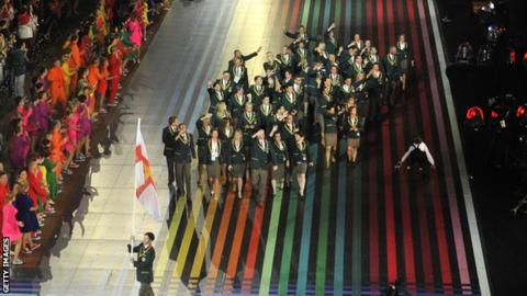 Guernsey at the Glasgow 2014 opening ceremony