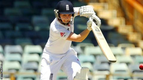 Heather Knight against Australia in England's last test match in January