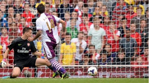 Antonio Luna scores for Villa at the Emirates
